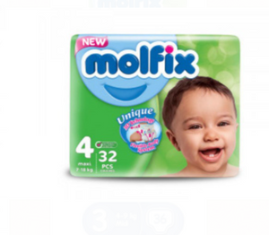 Molfix Twin Maxi(7-18 Kg)  x 32 (Pack Of 4)