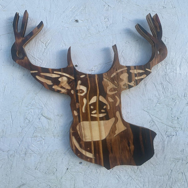 Wooden Deer Plaque