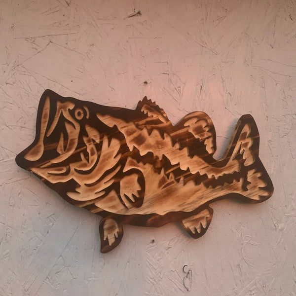 Wooden Bass Plaque