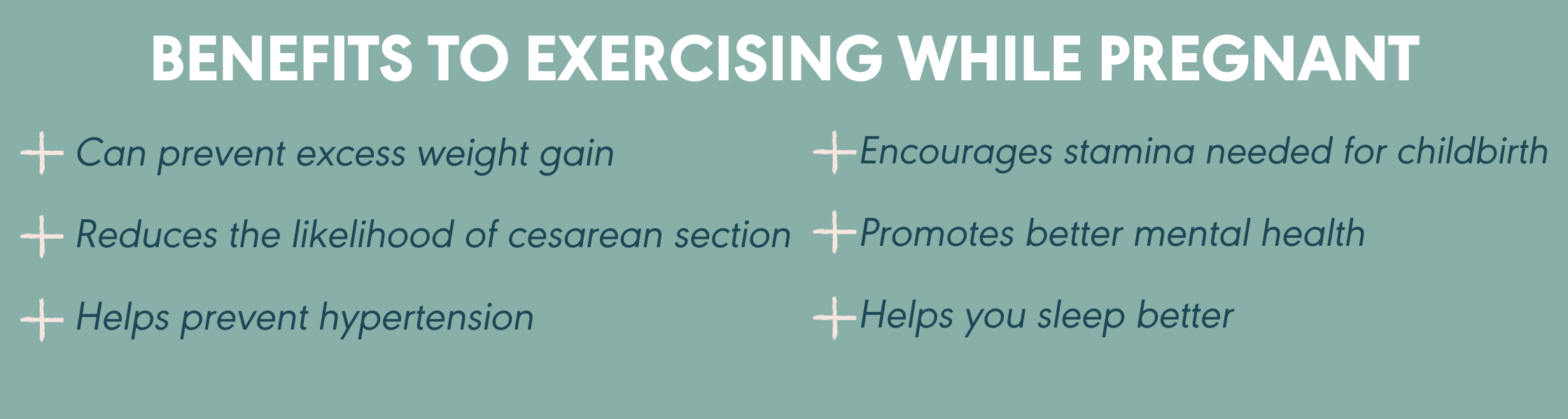 benefits of exercising while pregnant