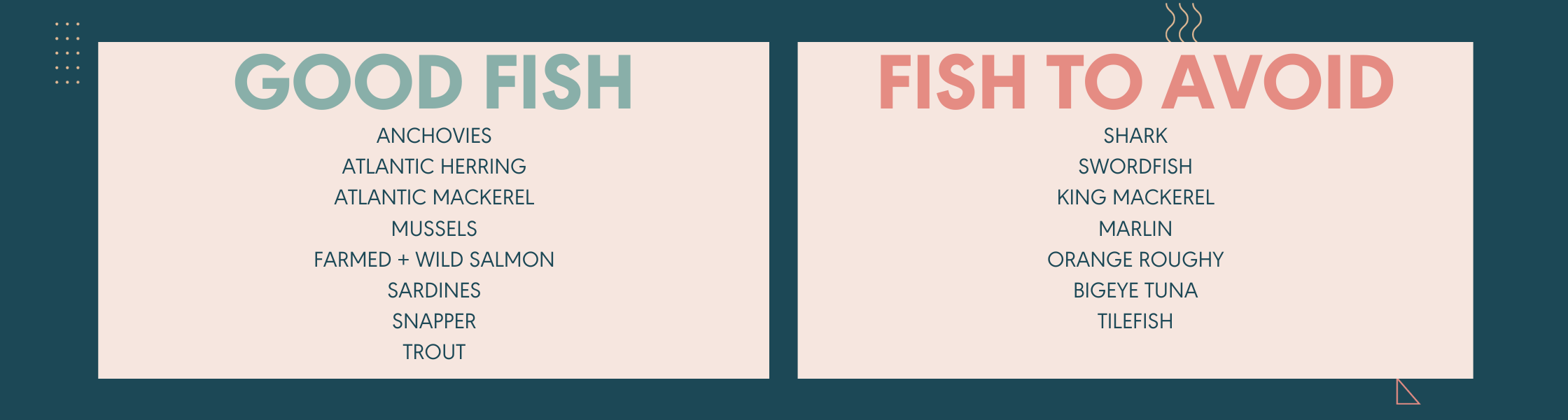 list of fish to avoid during pregnancy
