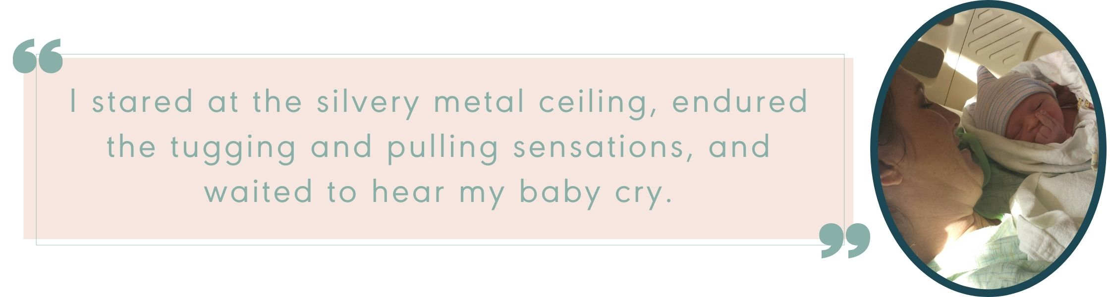 Colleen's Birth Story Quote