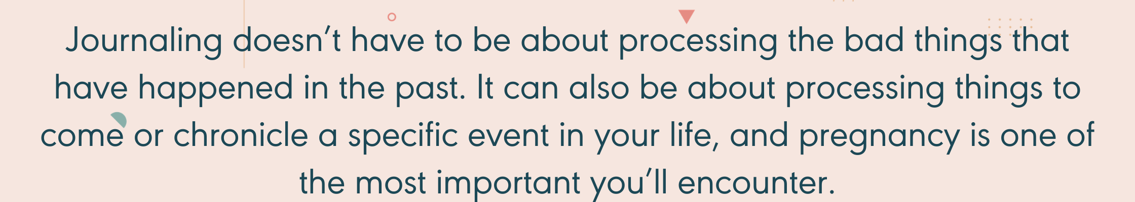 Quote about journaling during pregnancy