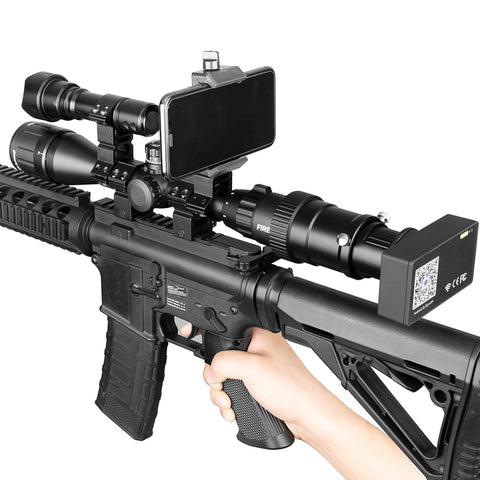 Digital Infrared Night Vision Scope with Phone Mount and Flashlight
