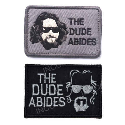 The Dude Abides Embroidery Patches