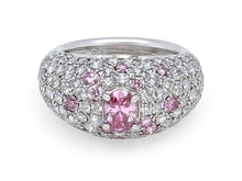 Load image into Gallery viewer, Kazanjian Fancy Vivid Pink Diamond, 0.65 carats, Ring, in Platinum
