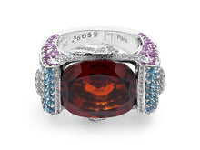 Load image into Gallery viewer, Kazanjian Garnet Ring, in 18K White Gold, by Patrick Mauboussin
