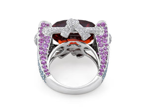 Kazanjian Garnet Ring, in 18K White Gold, by Patrick Mauboussin