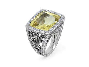 Danburite & Diamond Ring, by Patrick Mauboussin