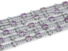 Load image into Gallery viewer, Kazanjian Pink Sapphire and Diamond Bracelet, in 18K White Gold