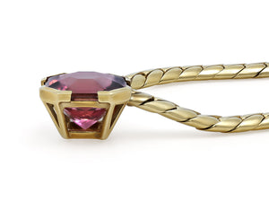 Kazanjian Rubelite Tourmaline Necklace, in 18K Yellow gold