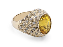 Load image into Gallery viewer, Kazanjian Yellow Sapphire, 13.56 carats, Ring in 18K Yellow Gold