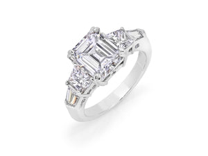 Kazanjian Emerald Cut Diamond, 3.04 carats, Ring, in Platinum