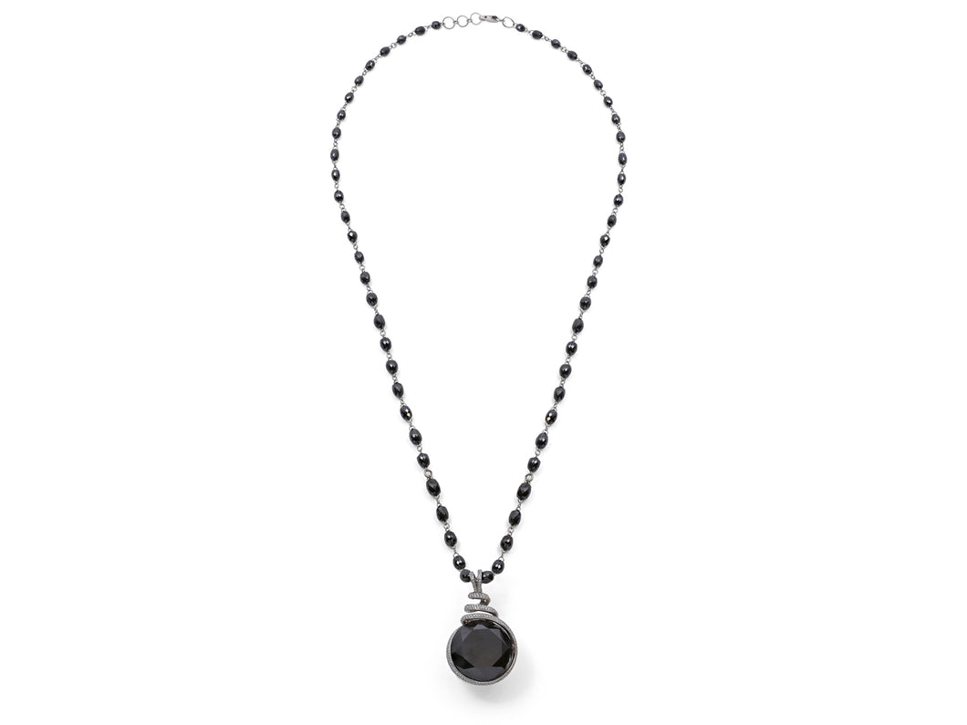 Kazanjian Black Diamond Pendant, in 18K White Gold