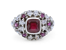 Load image into Gallery viewer, Kazanjian Ruby & Diamond Ring, in 18K White Gold