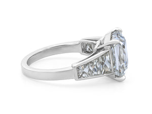 Kazanjian Asscher Cut Diamond, 5.61 Carats, Ring in Platinum