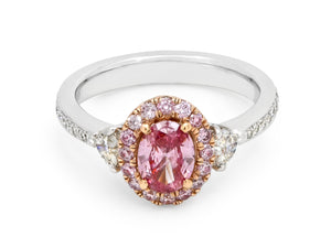 Kazanjian Fancy Vivid Pink Diamond, 0.64 carats, Ring in Platinum