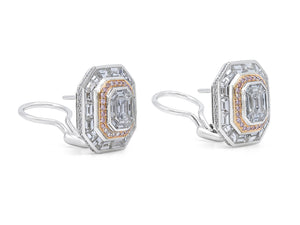 Kazanjian Pink & Colorless Diamond Earrings, 5.31 carats, in 18K White Gold & Rose Gold
