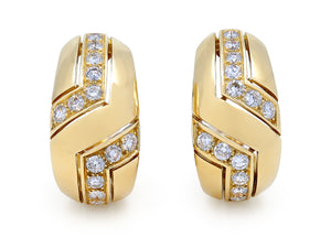 Chevron Diamond Earrings, in 18K Yellow Gold, by Cartier