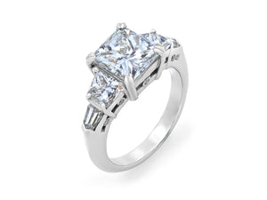 Kazanjian Princess Cut Diamond, 3.03 Carats, Ring in Platinum