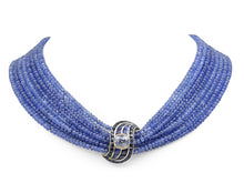 Load image into Gallery viewer, Kazanjian Torsade Multi-Strand Sapphire Bead Necklace, in 18K Yellow Gold