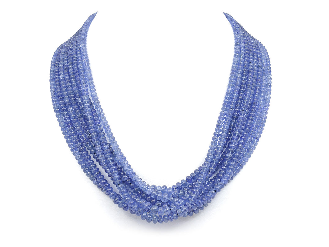 Kazanjian Torsade Multi-Strand Sapphire Bead Necklace, in 18K Yellow Gold