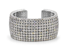 Load image into Gallery viewer, Kazanjian Diamond Cuff Bracelet in 18K White Gold