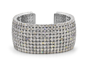 Kazanjian Diamond Cuff Bracelet in 18K White Gold