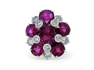 Kazanjian Purple Sapphire & Diamond Ring, in Platinum