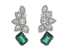 Load image into Gallery viewer, Kazanjian Emerald, 7.29 carats, & Diamond Earrings, in 18K White Gold & Black Rhodium