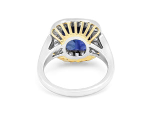 Kazanjian Sapphire, 6.20 carats, Ring, in Platinum & 18K Yellow Gold