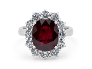 Kazanjian Burma Ruby, 4.40 carats, and Diamond Ring