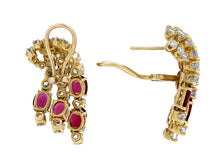 Load image into Gallery viewer, Kazanjian Ruby and Diamond Waterfall Earrings, in 18K Yellow Gold