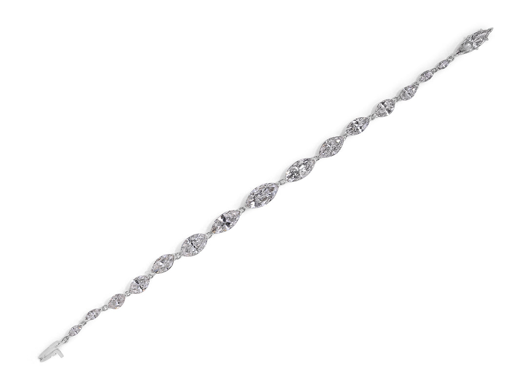 Kazanjian Marquise Cut Diamond Bracelet in Platinum