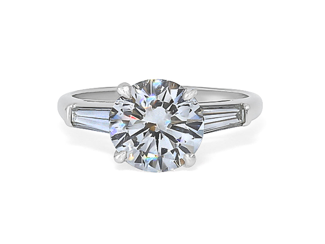 Kazanjian Round Brilliant Diamond, 2.06 carats, Ring in Platinum