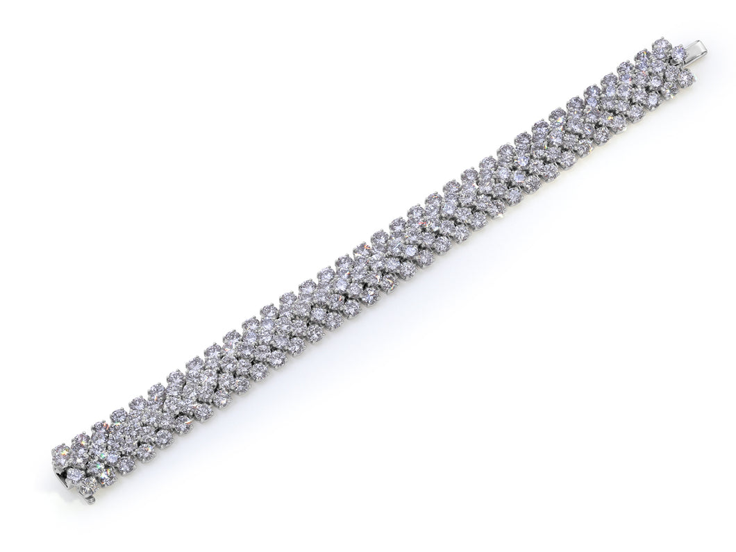 Kazanjian Flexible Link Diamond Bracelet, in Platinum