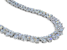 Load image into Gallery viewer, Kazanjian Modern Double Row Diamond Necklace in Platinum