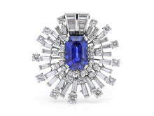 Load image into Gallery viewer, Sapphire, 13.03 carats, Brooch in Platinum, by Oscar Heyman