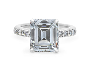 Kazanjian Emerald Cut Diamond, 5.01 carats, Ring in Platinum
