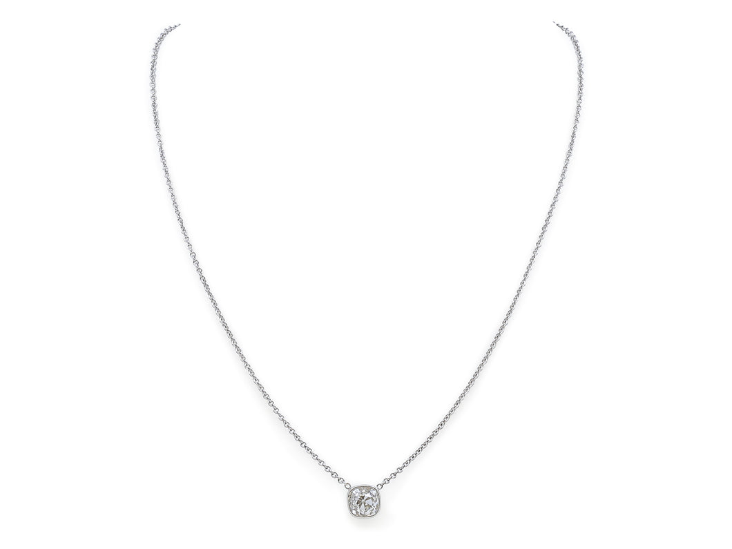 Kazanjian Old Mine Cut Diamond, 2.03 carats, Pendant Necklace in 18K White Gold