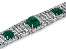 Load image into Gallery viewer, Kazanjian Emerald and Diamond Bracelet in 18K White Gold