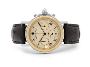 Breguet Marine Classique Chronograph Automatic Watch with Leather Strap