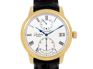 Glashütte Senator Chronometer Manual Wind Watch in 18K Yellow Gold