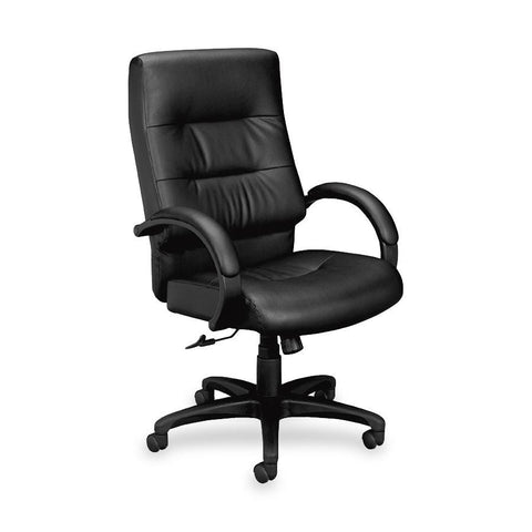 Basyx by HON VL691 Executive Plush Leather High-Back Desk Chair - Email Promo