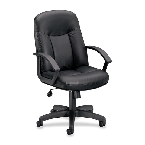 Basyx by HON VL601 Mid Back Management Chair - Leather - Flyer Promo