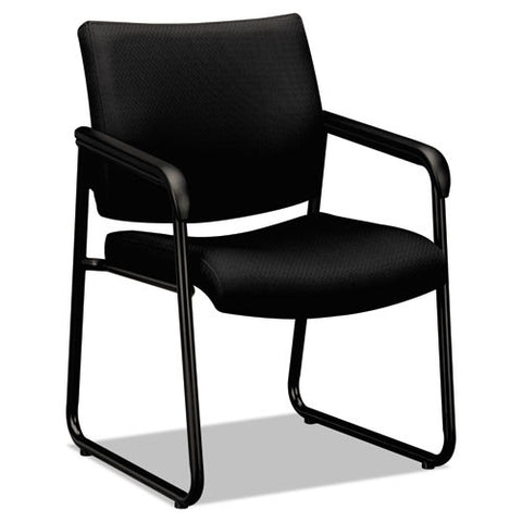 Basyx by HON VL443 Series Guest Chair with Black Fabric - Email Promo