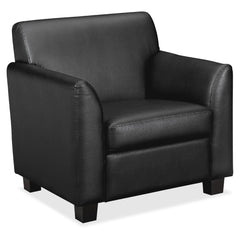 Basyx by HON VL871 Leather Black Club Chair - Email Promo