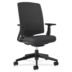 Basyx by HON 2281VA10T Lota Series Black Frame Mesh Back Work Chair - Email Promo