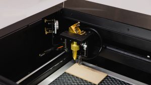 Place the material in your FLUX laser cutter