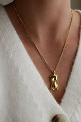 18k Gold Female Body Pendant Necklace HAUS OF DECK